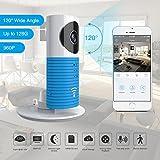 Clever Dog 2. Generation 960P 120 ° Weitwinkelobjektiv Wireless Sicherheit Wifi-Kamera Unterstützung Max 128 GB SD-Karte (Blue)
