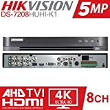 Hikvision 5MP Turbo HD 8Channel Metal DVR Series (Model-DS-7B08HUHI-K1) Upto 5MP Support.