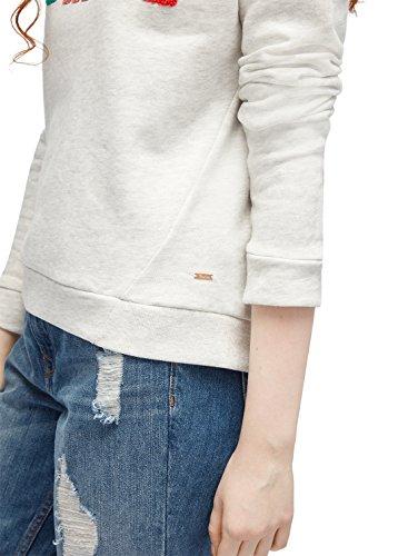 TOM TAILOR DENIM Sweat Sweatshirt mit Patches marble beige melange