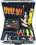 Famex 636-10 Elektriker Meister Werkzeugkoffer Set , 35-teilig, mit ABS Schalenkoffer 32 L