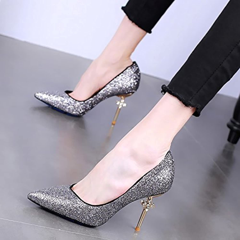 GTVERNH Pointu Hauts Talons Minces Et Sexy Peu Profondes À La Mode Des Chaussures Sexy Et Printemps Diamond Wild Seule...B07CNBW712Parent 890f0a