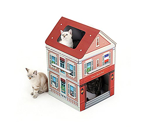 About Mall - Cat Scratcher House Furniture Condo Tree Tower Kitten Box (Paris)