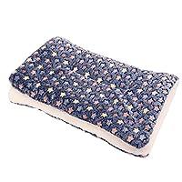 Dog Washable Mat Pet Blanket Warm and Soft Sherpa Dog Blanket Winter Puppy Cat Animals Sleep Bed Blankets Medium Navy blue