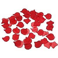 LUOEM 500pcs Rosa fiori Seta Artificiale Teste Rose Petali Matrimonio