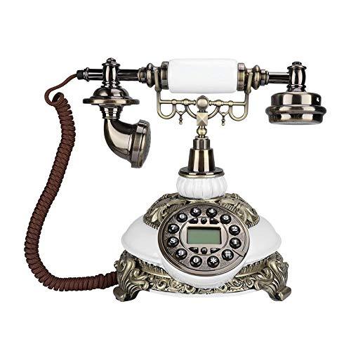 ASHATA Teléfono Vintage Fijo,Teléfono Antiguo