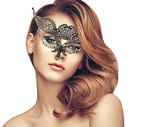 duoduodesign Exquisite Lace Masquerade Maske Gold/Flower/Soft Version