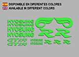 Ecoshirt MG-PKUI-PNK7 Autocollants Hyosung GT 250 F213 Stickers Aufkleber Decals Autocollants Bike Moto GP, Vert