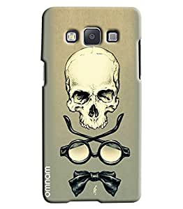 Omnam Skelton With Shades And Bow Printed Designer Back Cover Case For Samsung Galaxy A5