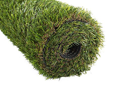 Golden Moon erba artificiale tappeto indoor/outdoor realistico verde decorativo erba artificiale TURF tappeto sintetico 25 mm altezza pelo 0.91 mx1.52 m, PP, 0.9mx1.5m l 3'x5'