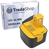 Trade-Shop Premium Akku Ni-MH Akku 12V / 2500mAh für Panasonic EZ7205X-B EZ7270 EZ7270NKN EZ7270X EZ7271 EZ7271NKN EZ7271X EZ7300 EZ7301 EZ7301N22PK EZ7301P SDF-AK 220