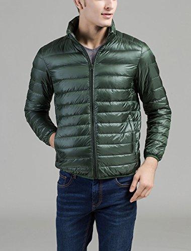 Panegy -  Giacca - Basic - Collo mao  - Uomo Verde scuro