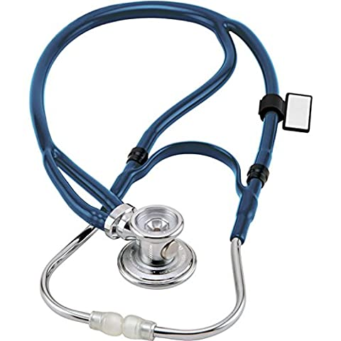 MDF® Sprague-X überarbeitetes Sprague Rappaport Stethoskop mit austauschbarem Bruststück für Erwachsene, Kinderärzte und Säuglinge - Königsblau