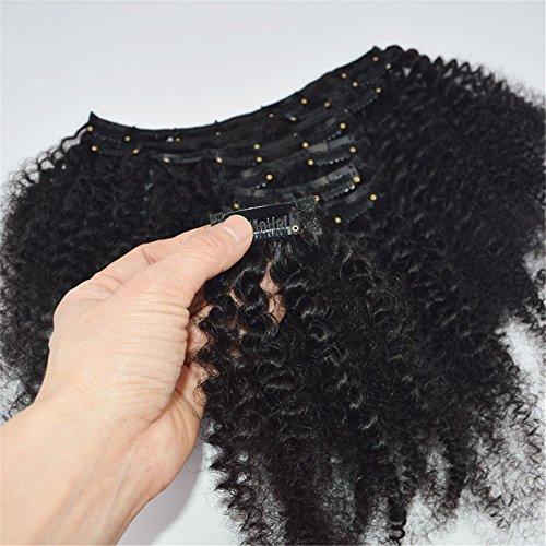 7 extension a clip di capelli africani neri umani 120g