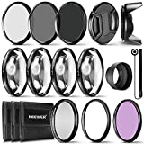 Neewer® 58 mm komplett Objektivfilter Zubehör-Kit für Objektive mit 58 mm Filter Größe: UV CPL FLD Filter Set + Macro Close Up Set (+ 1 + 2 + 4 + 10) + ND Filter Set (ND2 ND4 ND8) + andere
