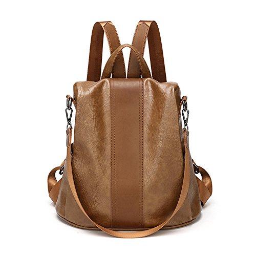 RFVBNM Frauen Rucksack Mode kausal Taschen hochwertige Damenrucksack weibliche Umhängetasche Nylon Oxford Tuch Doppel Umhängetasche Mumie Rucksack Bestes Geschenk für Mädchen, schwarz Karamell