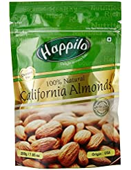 Happilo 100% Natural Premium Californian Almonds, 200g (Pack of 2)
