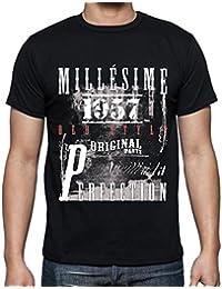 1957,cadeaux,anniversaire,Manches courtes - Homme T-shirt