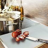 Grafner® Herdabdeck/Schneidplatten 2er-Set Glas satiniert gehärtetes Glas