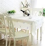 BLUELSS Qualität PVC-Tischdecke Esstisch Kunststoffabdeckung Kaffee Ende Tischdecke Rund Quadratisch Rechteckig wasserdicht Matte, 137 x 160 cm