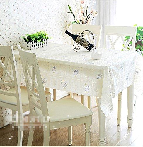 BLUELSS Qualität PVC-Tischdecke Esstisch Kunststoffabdeckung Kaffee Ende Tischdecke Rund Quadratisch Rechteckig wasserdicht Matte, kundenspezifische
