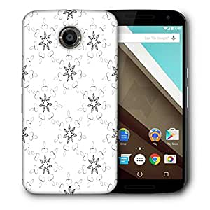 Snoogg Star Pattern Printed Protective Phone Back Case Cover For LG Google Nexus 6