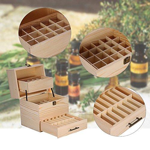 3 Etage Ätherisch Öl Holzkasten Holzkiste Aufbewahrungsbox Box für 59 Flaschen