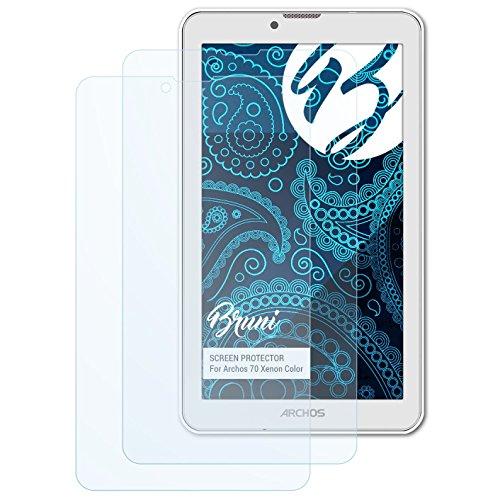 Bruni Schutzfolie für Archos 70 Xenon Color Folie, glasklare Bildschirmschutzfolie (2X)