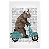 artboxONE Poster 90x60 cm Fiktion Rhino Roller hochwertiger Design Kunstdruck - Bild Fiktion von FabFunky