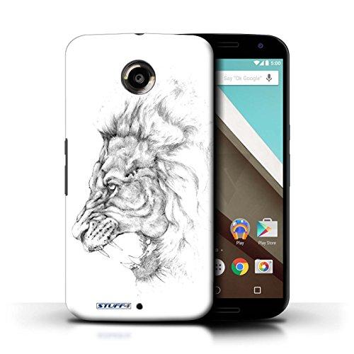 Kobalt® Imprimé Etui / Coque pour Motorola Nexus 6 / Léopard conception / Série Dessin Croquis Lion