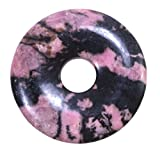 Lebensquelle Plus Rhodonit Edelstein Donut Ø 30 mm Anhänger