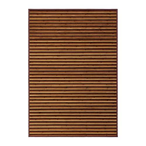 Alfombra de salón árabe marrón de bambú para decoración de 140 x 200 cm Arabia - Lola Derek