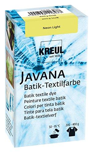 Kreul 98521 - Javana Batik Textilfarbe, zum Färben von Textilien mit der Shibori Technik, 70 g Farbpulver in Neon Light