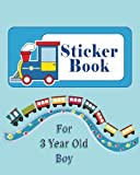 Sticker Book for 3 Year Old Boy: Blank Sticker Book