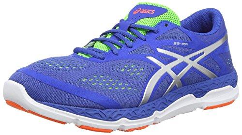 Asics 33-fa, Chaussures de Running Entrainement Homme Bleu (Blue/Silver/Flash Green 4293)