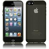 Coque Ultra Fine pour Apple iPhone SE / 5 / 5s - Collection S-Line Transparent - Noir - par PrimaCase