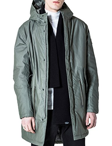 Cheap Monday Men's Cage Parka Men's Jacket In Elephant Grey In Size Xl Grey