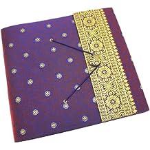 Gran álbum de fotos diseño de India Sari 240mm x 260mm), color morado