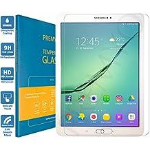 PREMYO verre trempé Galaxy Tab S2 9.7. Film protection Samsung Galaxy Tab S2 9.7 avec un degré de dureté de 9H et des angles arrondis 2,5D. Protection écran Tab S2 9.7