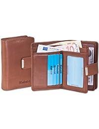 Rimbaldi - Kompakte Damengeldbörse mit besonders viel Platz aus naturbelassenem Rindsleder