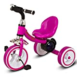 #9: Baybee Lagoona Lightweight Convertible Kids tricycle Learn to Ride Trike with 3D Flash Light & Music | Suitable For Boys & Girls - Pink
