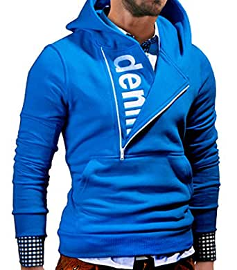 MT Styles Kapuzenpullover mit Zipper Hoodie Pullover S-111 [Blau, S]