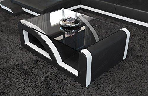 Sofa Dreams Design Table Basse Palermo avec Stable Plateau en Verre