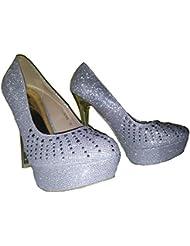 Tacones altos, Stiletto Pumps High Heels. Zapatos de mujer, modello 1101400102001037, rojo, plata, oro, diferentes modelos y tamaños.
