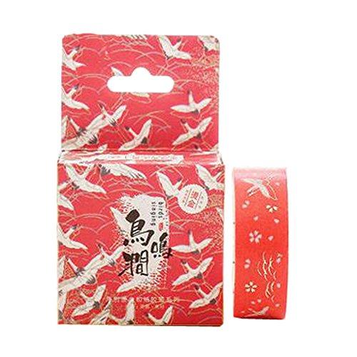 2ST-japanisches Vintages Vergolden dekorative DIY Masking Tape Klebeband Sticky Papier, J