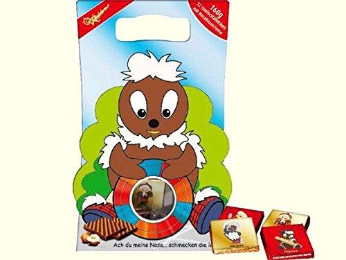 Rotstern Pittiplatsch Confecttäfelchen | INKL DDR Geschenkkarte | Ossi Produkte | Ideal für jedes DDR Geschenkset | DDR Traditionsprodukt und Ossi Kultprodukt | DDR Produkte