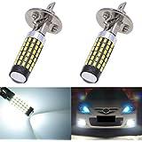KaTur Lot de 2ampoules LED de 900lumens H1 pour voiture ultra-lumineuses, lentille 3014 78SMD, feux diurnes, xénon blanc 6000K DC 12V-24V