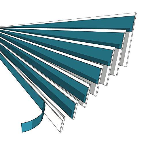 NOBILY *** Fensterleiste 40mm ohne Lippe / 1 Meter - 150 Meter/PVC - Fensterleisten Flachleisten Kunststoffleisten Profileleisten Abschlussleisten Zierleisten zur Fenster Montage