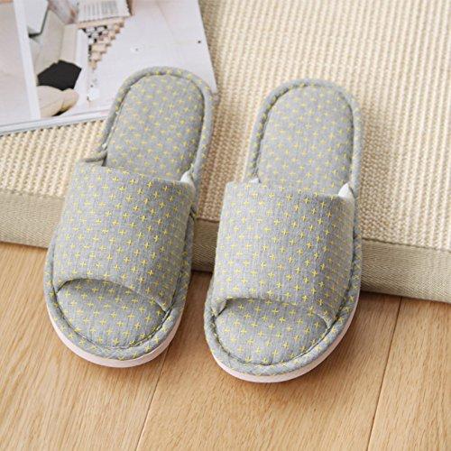Mhgao Home pantofole donna da tempo libero antiscivolo pantofole Grey