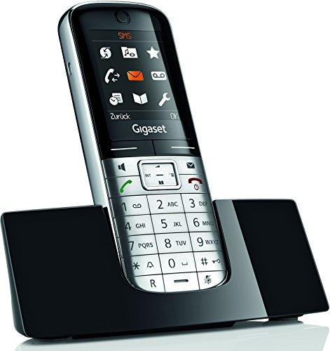 Gigaset SL350H Telefon - Schnurlostelefon / Universal Mobilteil - mit Farbdisplay / Freisprechen - Design Telefon / Schnurloses Telefon für Router - platin schwarz