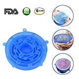 Kitchen Home Silicone Stretch Lids Reusable Food Saver Covers Spill Lid Stopper Cover for Cups, Pots, Can,bowls,Dishes,Jars